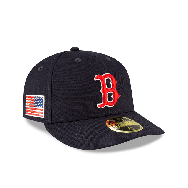Boston Red Sox Crystals From Swarovski Flag Low Profile 59FIFTY Fitted | Boston Red Sox Hats | New Era Cap