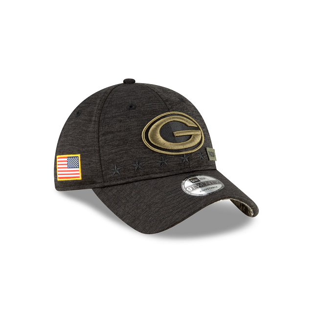 Green Bay Packers Salute To Service 9TWENTY Adjustable | Green Bay Packers Hats | New Era Cap