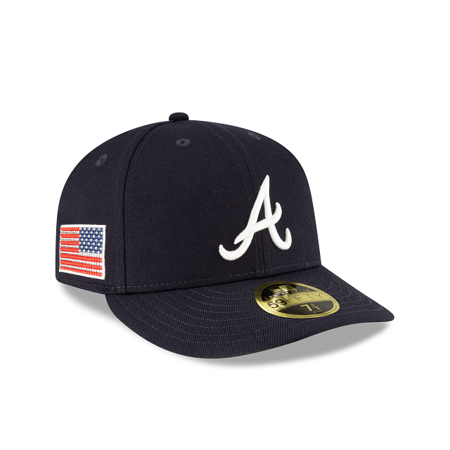 Atlanta Braves Crystals From Swarovski Flag Low Profile 59FIFTY Fitted | Atlanta Braves Hats | New Era Cap