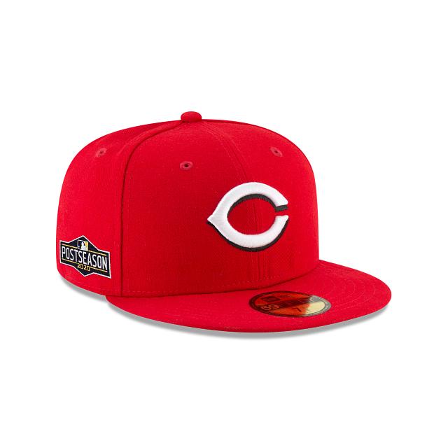 Cincinnati Reds Postseason Side Patch 59FIFTY Fitted   Cincinnati Reds Hats   New Era Cap