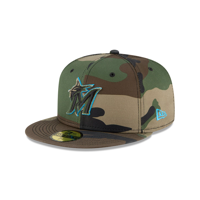 Miami Marlins Forest Pop 59FIFTY Fitted | Miami Marlins Hats | New Era Cap