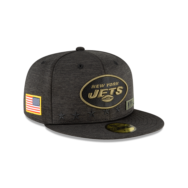 New York Jets Salute To Service 59FIFTY Fitted | New York Jets Hats | New Era Cap