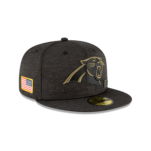 Carolina Panthers Salute To Service 59FIFTY Fitted | Carolina Panthers Hats | New Era Cap