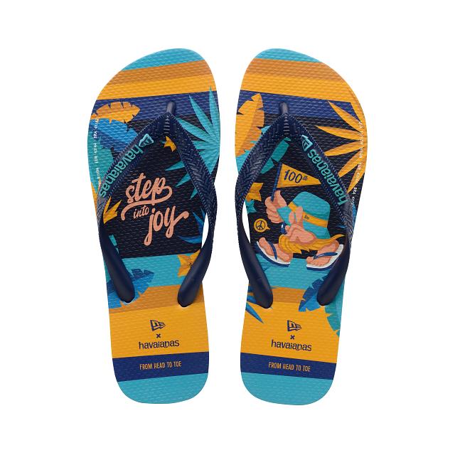 Havaianas Blue Flip Flops   Havaianas X New Era   New Era Cap