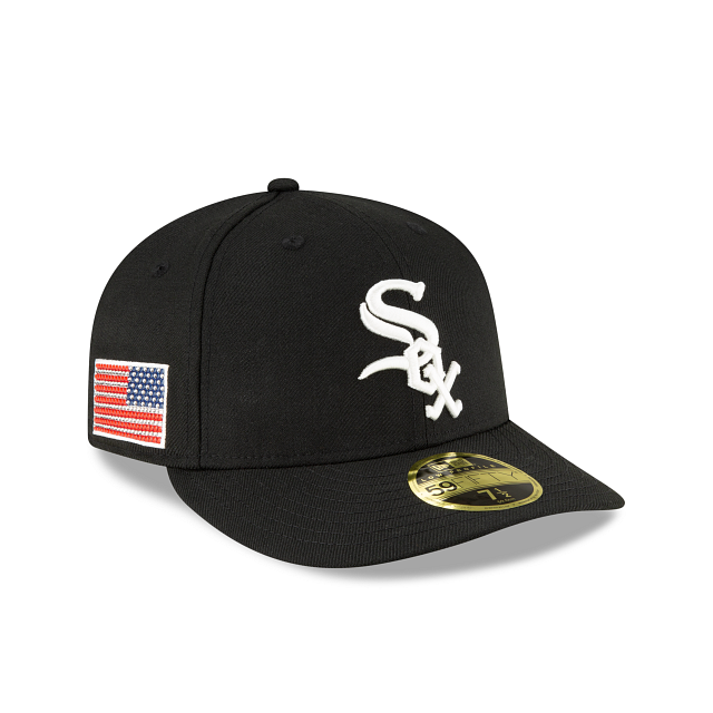 Chicago White Sox Crystals From Swarovski Flag Low Profile 59FIFTY Fitted | Chicago White Sox Hats | New Era Cap