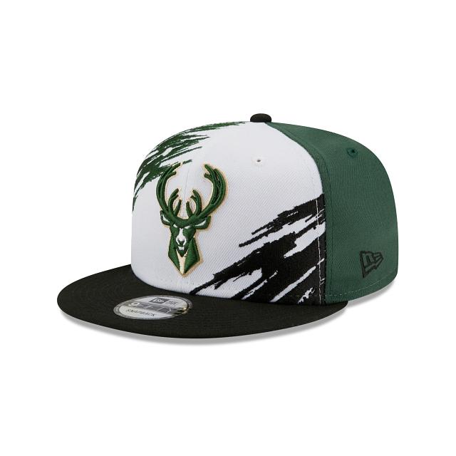 Milwaukee Bucks Splatter 9FIFTY Snapback | Milwaukee Bucks Hats | New Era Cap