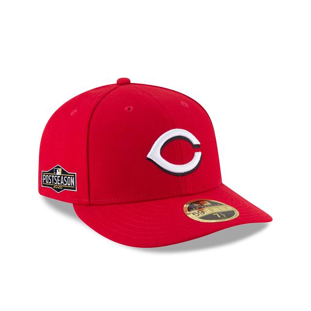 Cincinnati Reds Postseason Side Patch Low Profile 59FIFTY Fitted   Cincinnati Reds Hats   New Era Cap