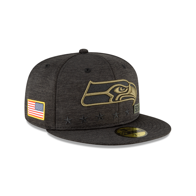 Seattle Seahawks Salute To Service 59FIFTY Fitted | Seattle Seahawks Hats | New Era Cap