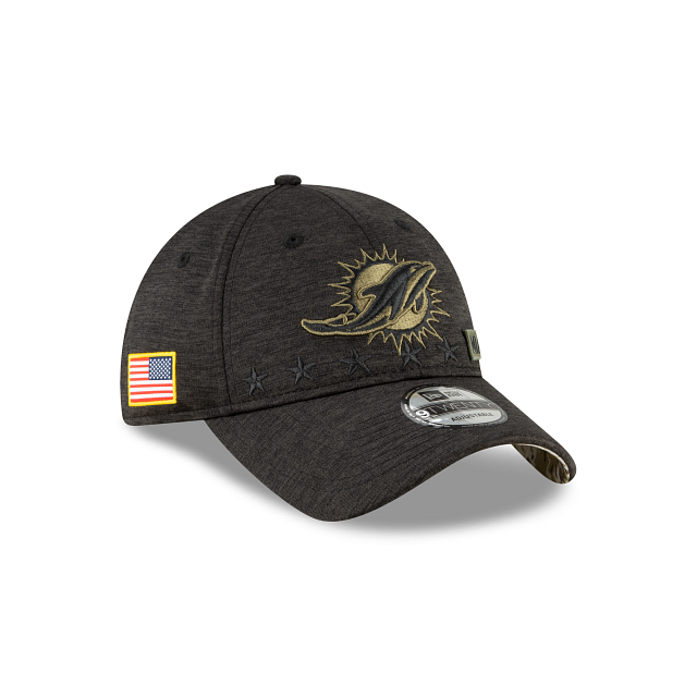 Miami Dolphins Salute To Service 9TWENTY Adjustable | Miami Dolphins Hats | New Era Cap