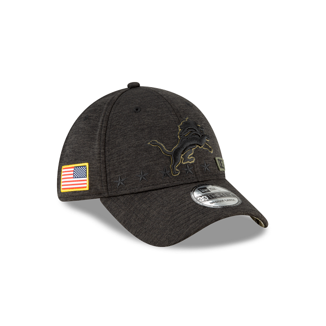 Detroit Lions Salute To Service 39THIRTY Stretch Fit | Detroit Lions Hats | New Era Cap