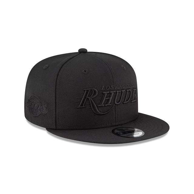 Rhude X Los Angeles Lakers Black 9FIFTY Snapback | Los Angeles Lakers Hats | New Era Cap