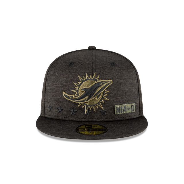 Miami Dolphins Salute To Service 59FIFTY Fitted | Miami Dolphins Hats | New Era Cap