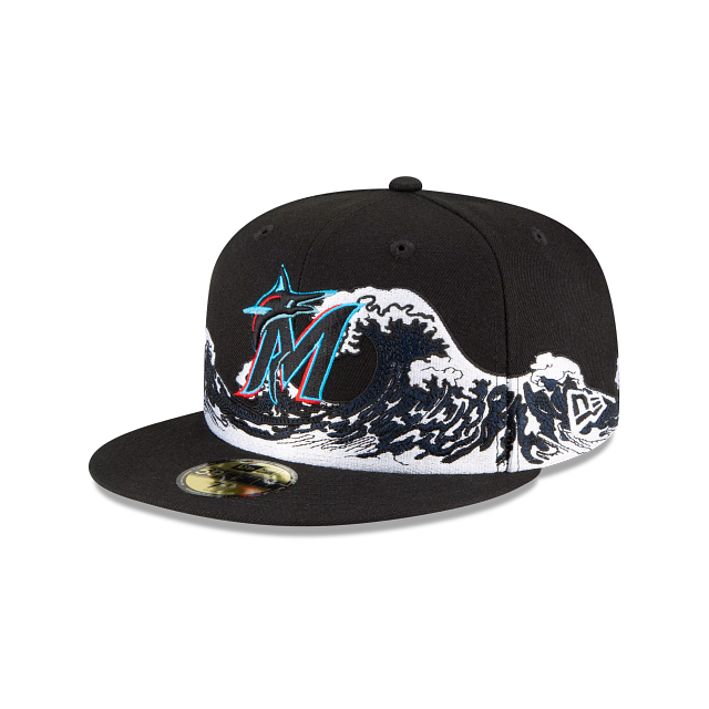 Miami Marlins Wave 59FIFTY Fitted | Miami Marlins Hats | New Era Cap