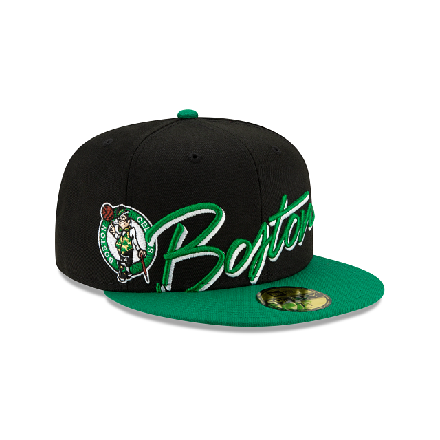 Boston Celtics Cursive 59FIFTY Fitted | Boston Celtics Hats | New Era Cap