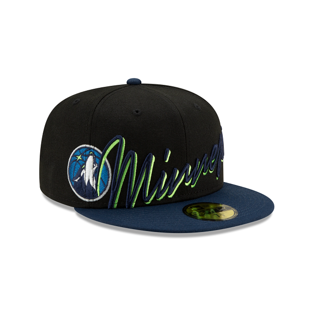 Minnesota Timberwolves Cursive 59FIFTY Fitted | Minnesota Timberwolves Hats | New Era Cap