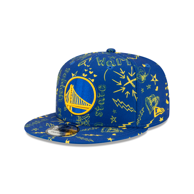 Golden State Warriors Doodle 9FIFTY Snapback | Golden State Warriors Hats | New Era Cap