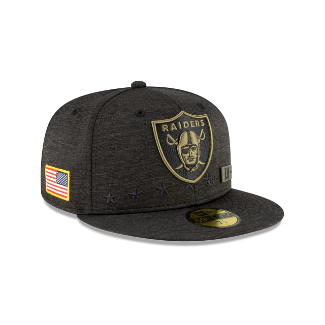 Las Vegas Raiders Salute To Service 59FIFTY Fitted | Las Vegas Raiders Hats | New Era Cap