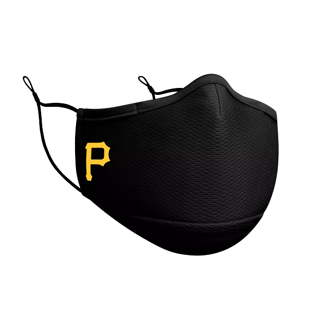 Pittsburgh Pirates Black Face Mask | Pittsburgh Pirates Face Coverings | New Era Cap