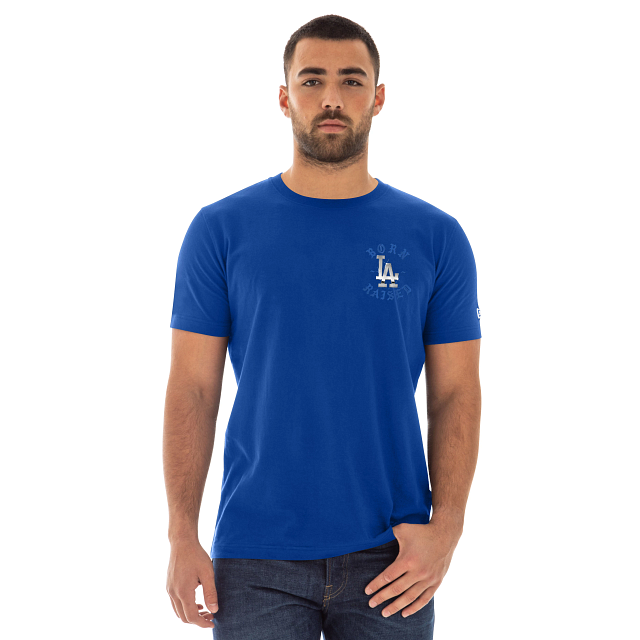Born X Raised Los Angeles Dodgers Blue Short Sleeve T-shirt | Los Angeles Dodgers Born X Raised X Los Angeles Dodgers | New Era Cap