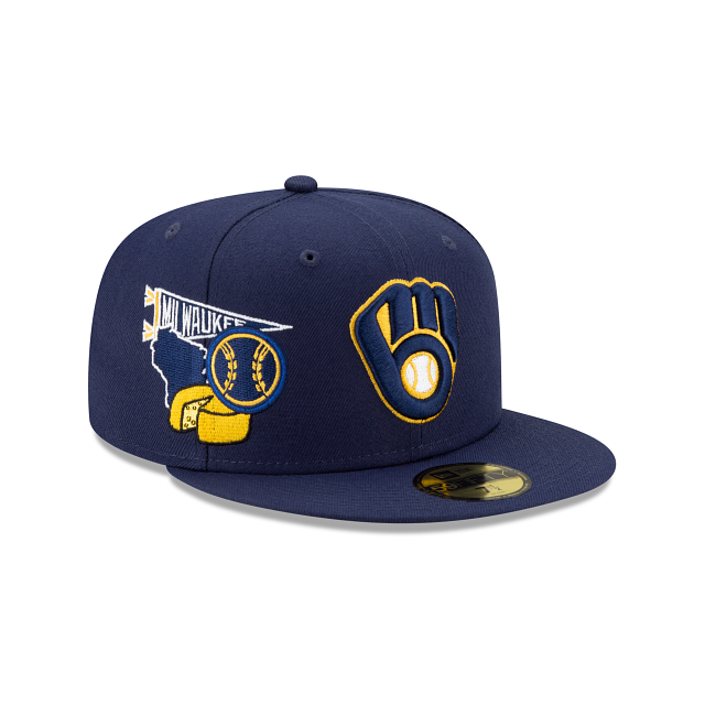 Milwaukee Brewers City Patch 59FIFTY Fitted | Milwaukee Brewers Hats | New Era Cap