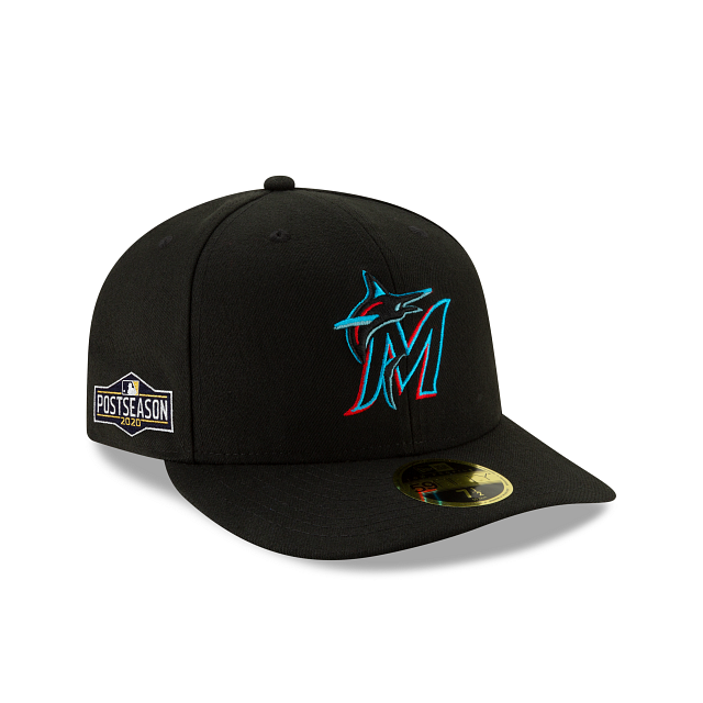Miami Marlins Postseason Side Patch Low Profile 59FIFTY Fitted | Miami Marlins Hats | New Era Cap