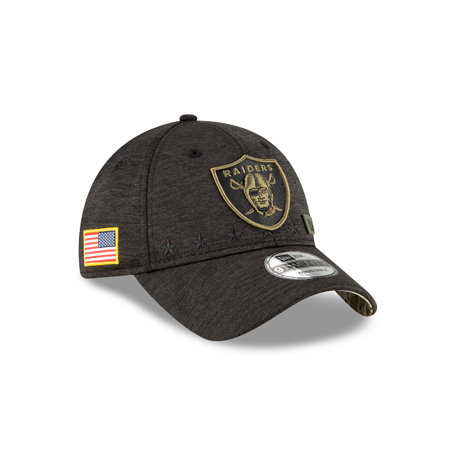 Las Vegas Raiders Salute To Service 9TWENTY Adjustable | Las Vegas Raiders Hats | New Era Cap