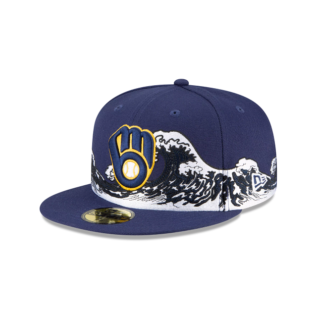 Milwaukee Brewers Wave 59FIFTY Fitted | Milwaukee Brewers Hats | New Era Cap