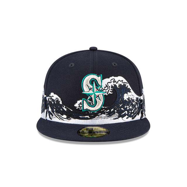 Seattle Mariners Wave 59FIFTY Fitted | Seattle Mariners Hats | New Era Cap