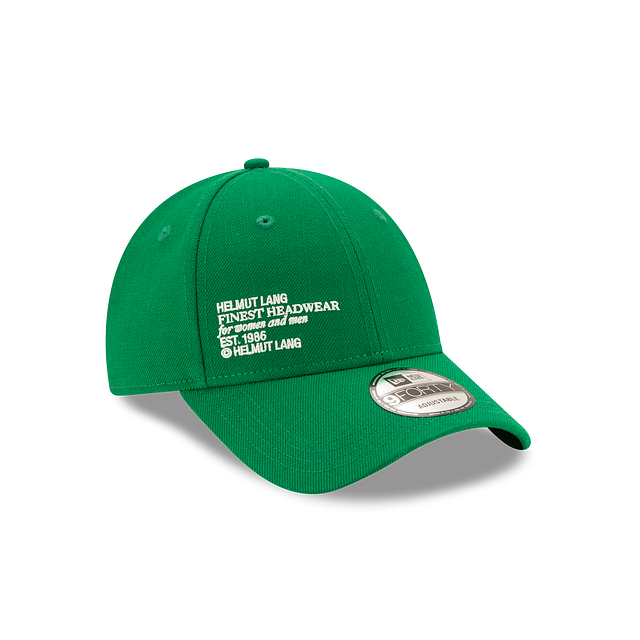 Helmut Lang Kelly Green 9FORTY Snapback | Helmut Lang X New Era Hats | New Era Cap
