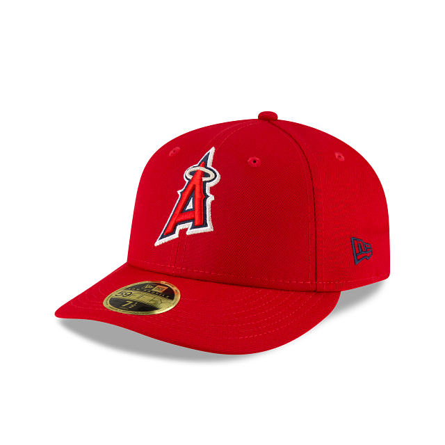 Los Angeles Angels Ligature Low Profile 59FIFTY Fittted | Los Angeles Angels Hats | New Era Cap