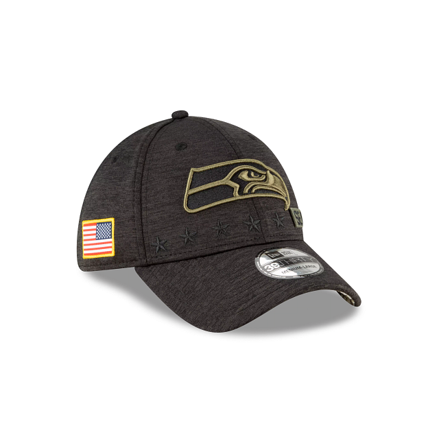 Seattle Seahawks Salute To Service 39THIRTY Stretch Fit | Seattle Seahawks Hats | New Era Cap