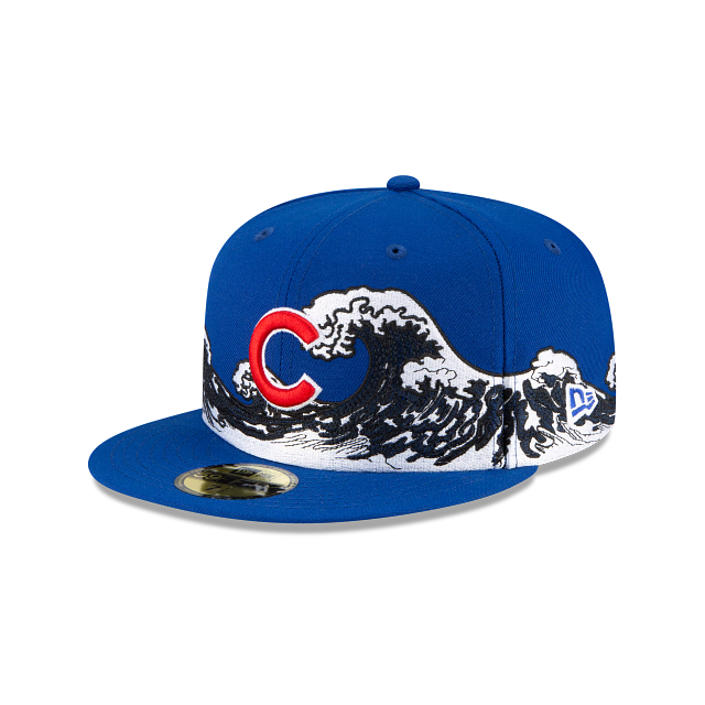 Chicago Cubs Wave 59FIFTY Fitted | Chicago Cubs Hats | New Era Cap