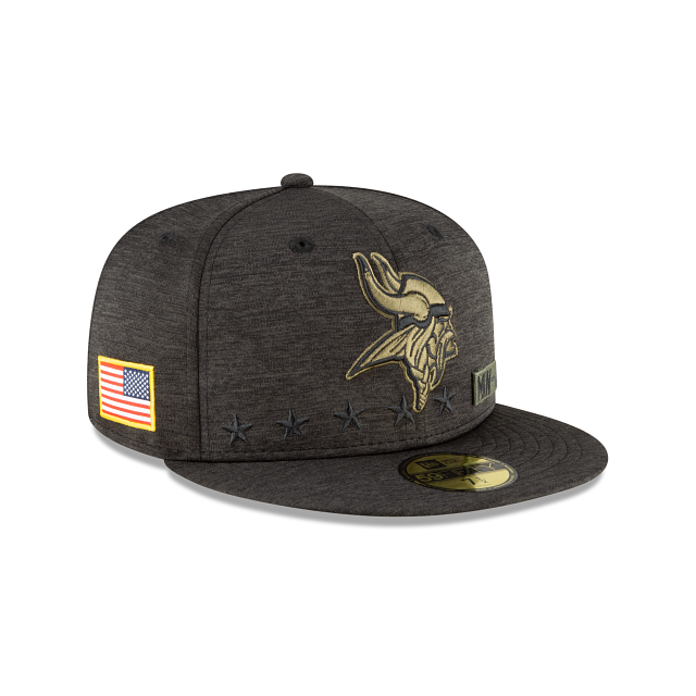 Minnesota Vikings Salute To Service 59FIFTY Fitted | Minnesota Vikings Hats | New Era Cap