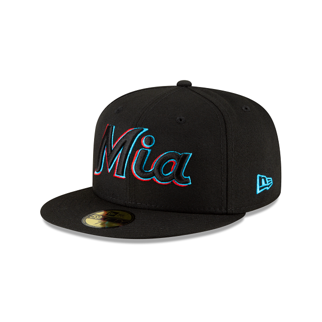 Miami Marlins Ligature 59FIFTY Fitted | Miami Marlins Hats | New Era Cap