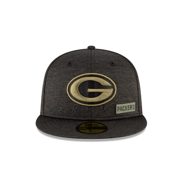 Green Bay Packers Salute To Service 59FIFTY Fitted | Green Bay Packers Hats | New Era Cap