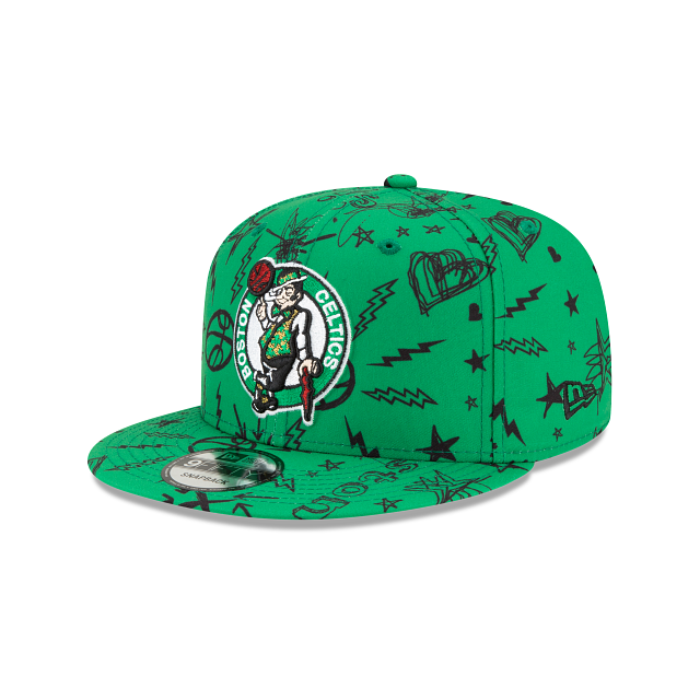 Boston Celtics Doodle 9FIFTY Snapback | Boston Celtics Hats | New Era Cap
