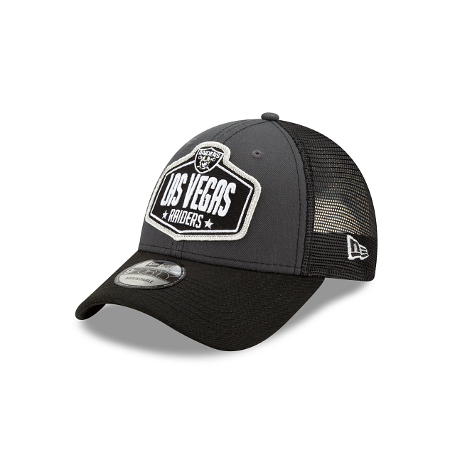 Las Vegas Raiders NFL Draft 9FORTY Adjustable | Las Vegas Raiders Hats | New Era Cap