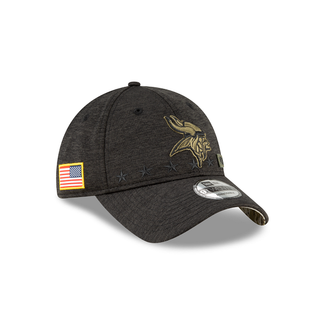 Minnesota Vikings Salute To Service 9TWENTY Adjustable | Minnesota Vikings Hats | New Era Cap