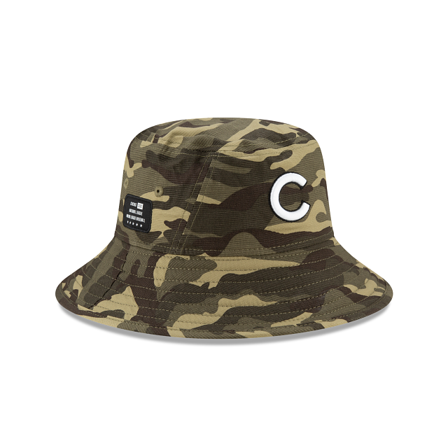 Chicago Cubs Armed Forces Weekend Stretch Bucket | Chicago Cubs Hats | New Era Cap