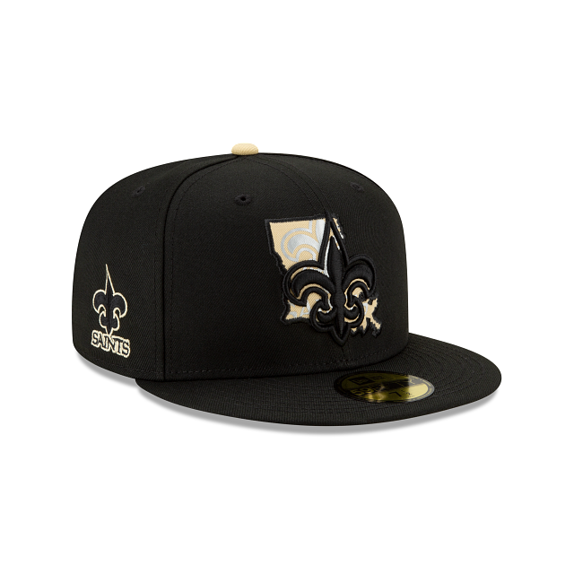 New Orleans Saints State Logo Reflect 59FIFTY Fitted | New Orleans Saints Hats | New Era Cap