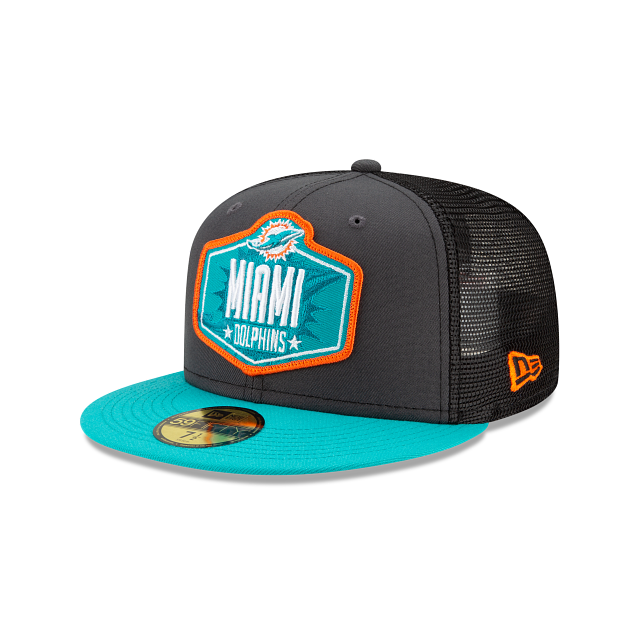 Miami Dolphins NFL Draft 59FIFTY Fitted | Miami Dolphins Hats | New Era Cap