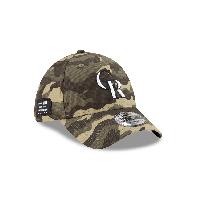 Colorado Rockies Armed Forces Weekend 39THIRTY Stretch Fit | Colorado Rockies Hats | New Era Cap