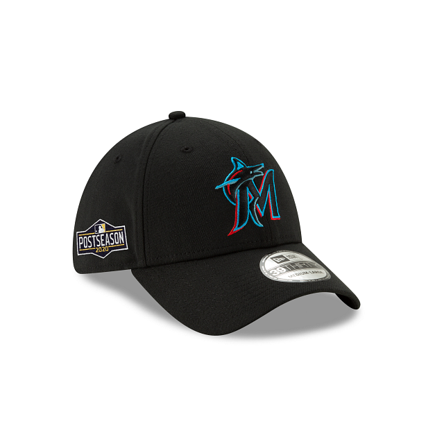 Miami Marlins Postseason Side Patch 39THIRTY Stretch Fit | Miami Marlins Hats | New Era Cap