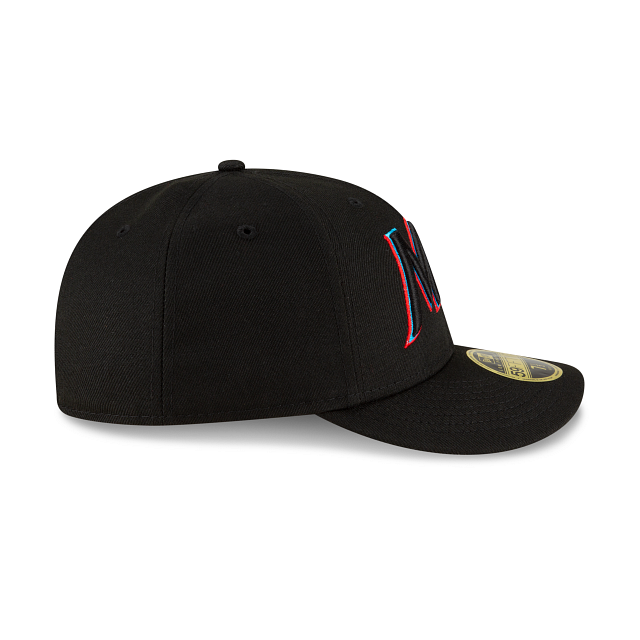 Miami Marlins Ligature Low Profile 59FIFTY Fittted | Miami Marlins Hats | New Era Cap