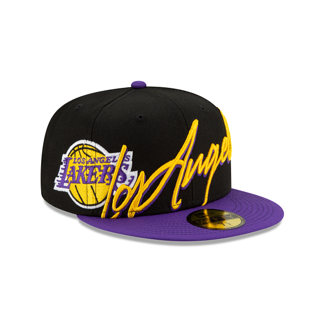 Los Angeles Lakers Cursive 59FIFTY Fitted | Los Angeles Lakers Hats | New Era Cap