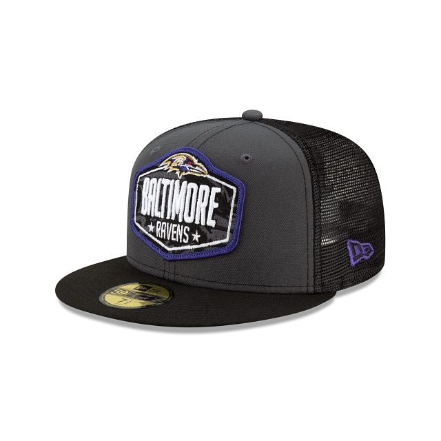 Baltimore Ravens NFL Draft 59FIFTY Fitted | Baltimore Ravens Hats | New Era Cap