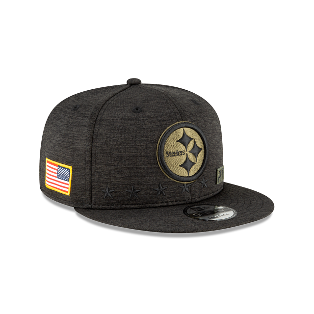 Pittsburgh Steelers Salute To Service 9FIFTY Snapback | Pittsburgh Steelers Hats | New Era Cap