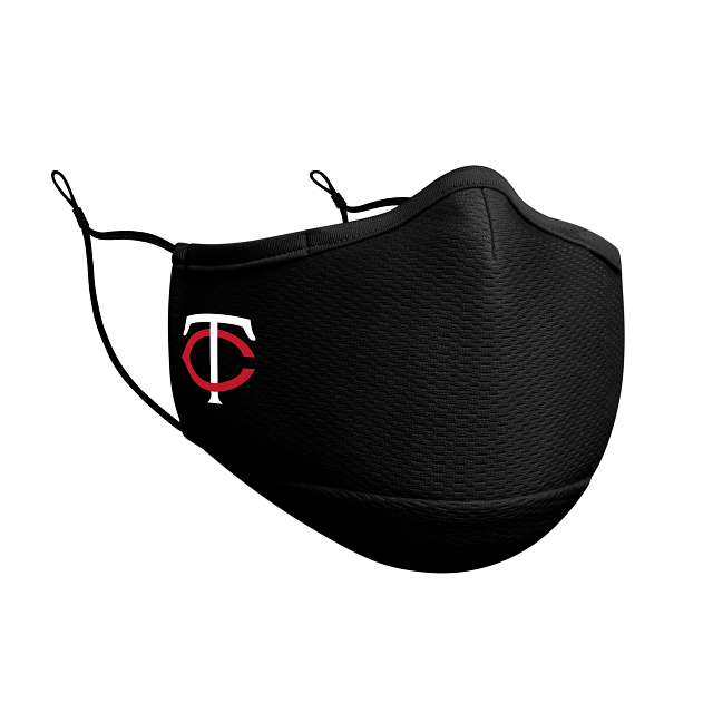 Minnesota Twins Black Face Mask | Minnesota Twins Face Coverings | New Era Cap