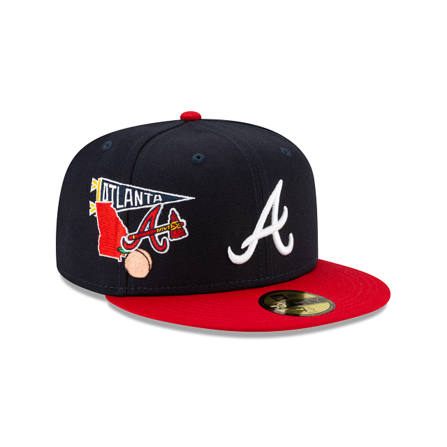 Atlanta Braves City Patch 59FIFTY Fitted | Atlanta Braves Hats | New Era Cap