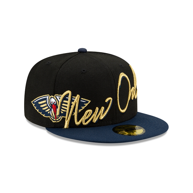 New Orleans Pelicans Cursive 59FIFTY Fitted | New Orleans Pelicans Hats | New Era Cap